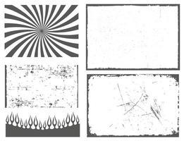 ensemble de cadres et de bordures effet grunge vecteur
