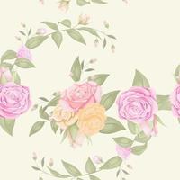modèle sans couture avec bouquet de fleurs vecteur