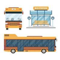 bus de ville isolé vecteur