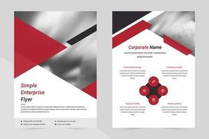 modèle de flyer commercial rouge, noir et blanc vecteur