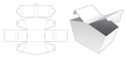 Boîte d'emballage 2 points d'ouverture vecteur