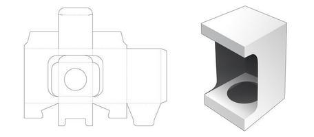 Boîte cosmétique 1 pièce avec fenêtre d'affichage vecteur