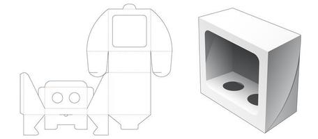 Boîte cosmétique 1 pièce avec fenêtre vecteur
