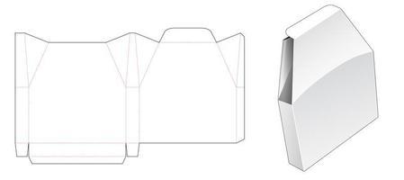 emballage de forme unique en étain vecteur