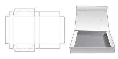 Boîte pliante 1 pièce vecteur