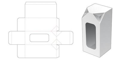 Boîte haute à 2 angles chanfreinés avec fenêtre vecteur