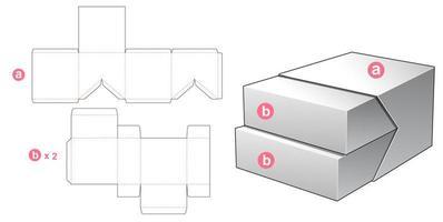 Boîte 2 en 1 vecteur