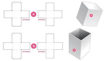boîte d'emballage rigide et couvercle vecteur