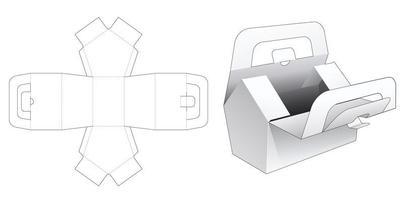 boîte en forme de maison avec poignée vecteur