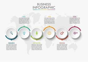 infographie avec un design de bordure de cercle coloré
