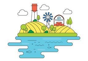 Illustration vectorielle de ferme