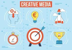 Médias vectoriels créatifs gratuits vecteur