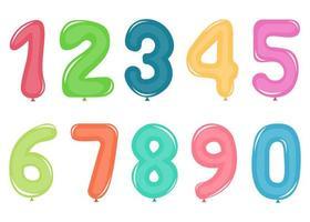 numéros de ballon isolés