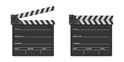 ensemble de clins de réalisateur vecteur