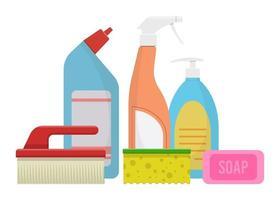 fournitures de nettoyage de maison vecteur