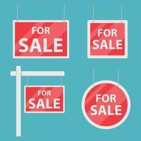 à vendre ensemble de signe de maison vecteur