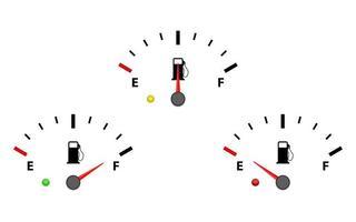 ensemble de jauge de carburant vecteur