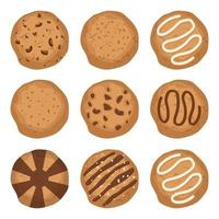 savoureux biscuits isolés vecteur