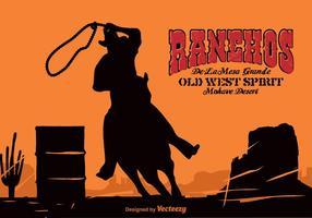 Contexte Western Vector Western