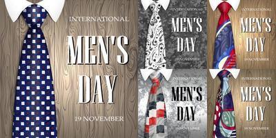 bannières internationales pour hommes ou fête des pères avec cravates