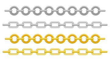 chaîne métallique isolée vecteur