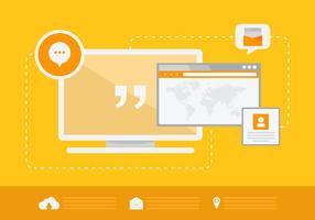 Portail Business Chat et emplacement de l'utilisateur vecteur
