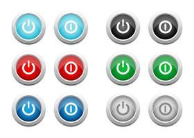 boutons marche / arrêt vecteur