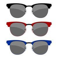 ensemble de lunettes de soleil isolé vecteur