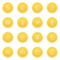devises isolées sur blanc