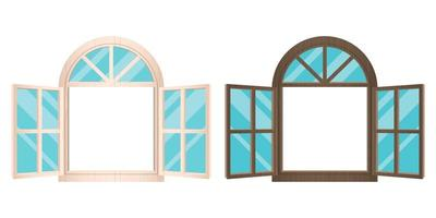 fenêtres en bois ouvertes