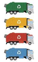 camion poubelle isolé