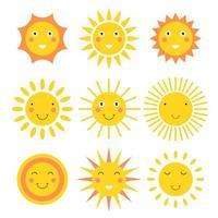 dessin animé soleil souriant