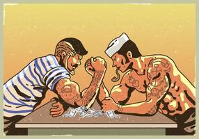 Match de lutte contre le bras