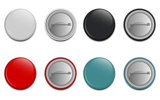 bouton broche isolé vecteur