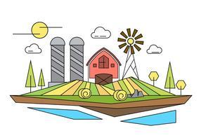 Illustration vectorielle de ferme vecteur