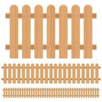 clôture en bois isolée vecteur