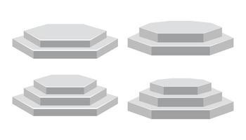podium isolé sur blanc vecteur