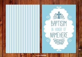 Carte de baptême à rayures pour garçon vecteur