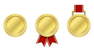 médaille gagnante isolée vecteur