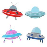 concept de vaisseau spatial ufo vecteur