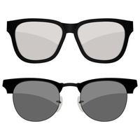 deux lunettes de soleil isolées vecteur