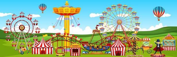 paysage de parc d'attractions à thème