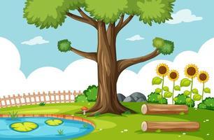 scène de parc naturel avec marais vecteur