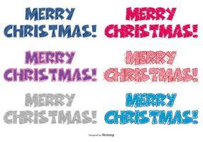Scribble Style Joyeux Noël Lettrage vecteur