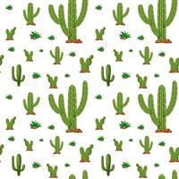 fond transparent avec des plantes de cactus vecteur