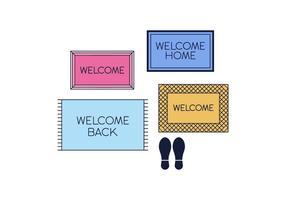 Vecteur de tapis de bienvenue gratuit