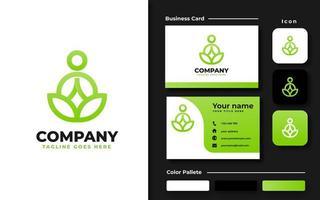 ensemble de marque vert yoga vecteur