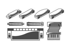 Pack harmonica vector