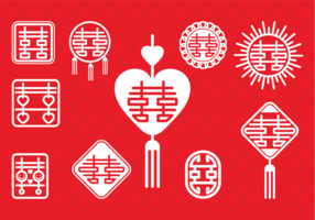 Symbole de mariage chinois vecteur