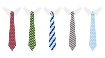ensemble de cravates